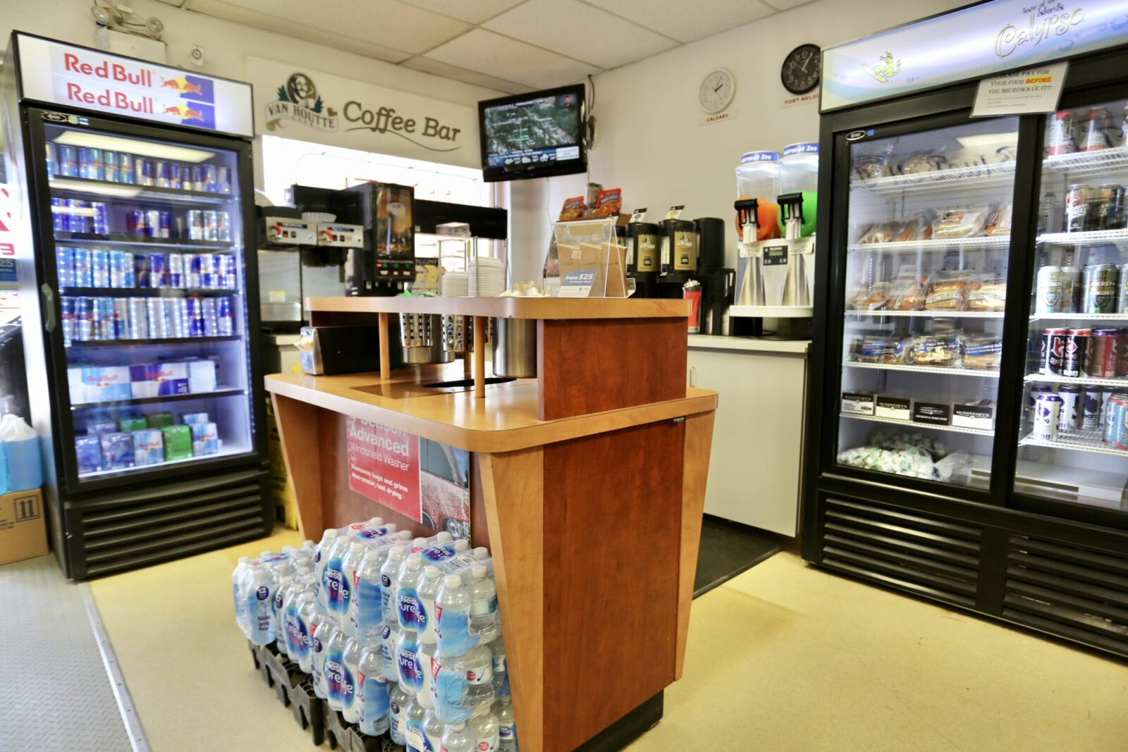 Blue Bell Inn Convenience Store Drinks Section